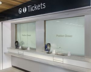 Closed ticket office